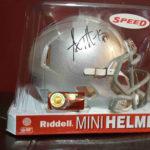 OSU Helmet signed by AJ Hawk