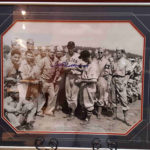 Signed, framed and matted picture of Ted Williams